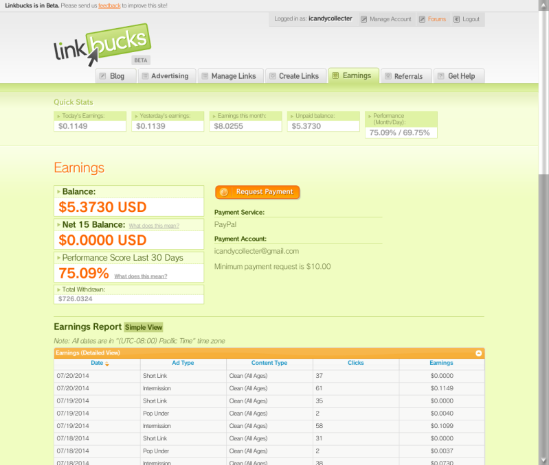Make money online with linkbucks